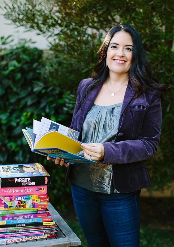 Samantha Chagollan with her books